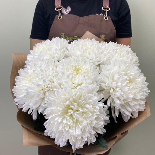 Букет из 7 одноголовых хризантем