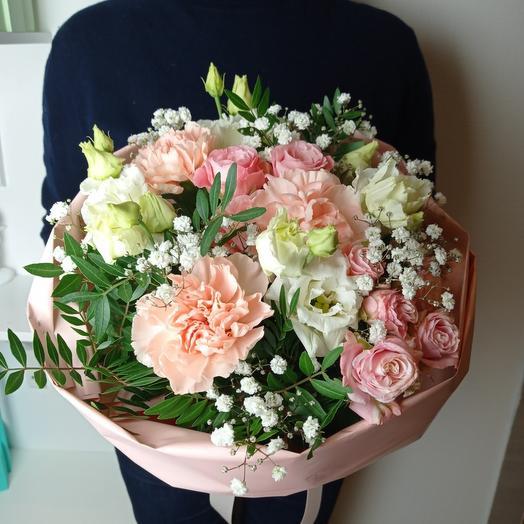 """""""Нежность в каждом лепестке""""  с пионовидной розой"""