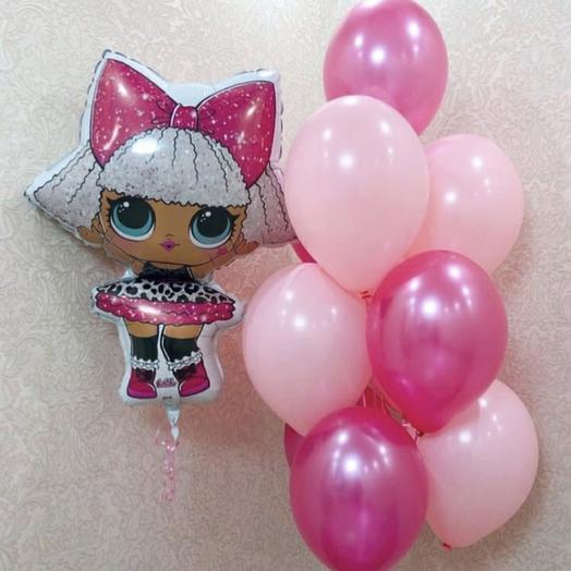 Кукла Лол + 10 шаров