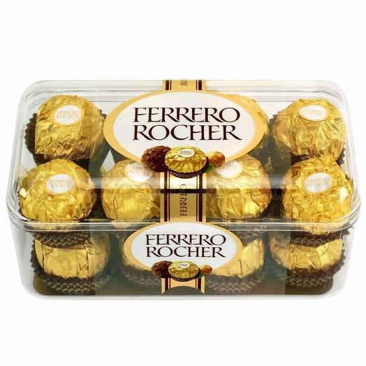 Набор конфет Ferrero Rocher из молочного шоколада, с начинкой из крема и лесного ореха, 200 гр