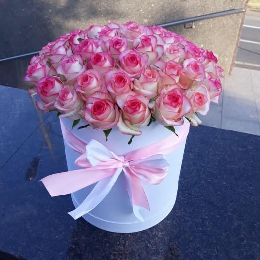 51 роза в коробке Джумилия