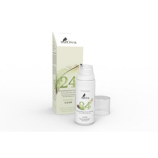 Дневной крем для нормальной и сухой кожи 24, Sativa