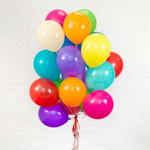 Латекс шары ассорти пастель 12д, 10 штук
