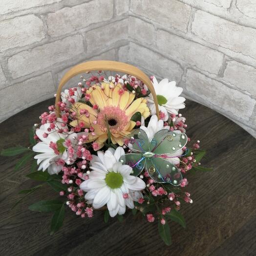 Мини Корзинка с цветами