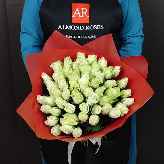 Букет из 51 белых роз