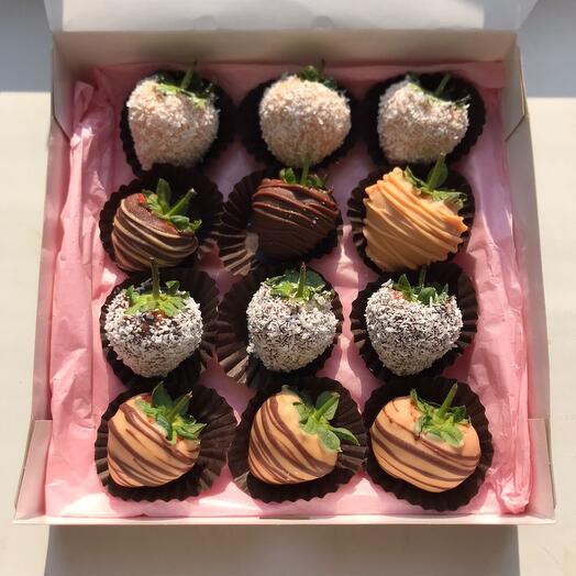 Набор клубники в бельгийском шоколаде