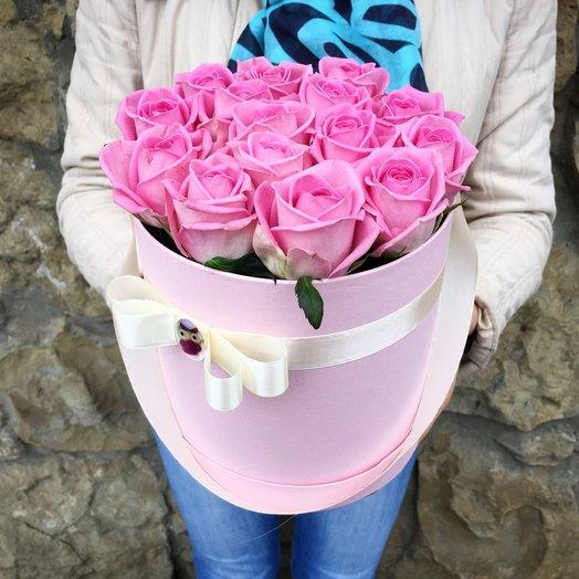 Цилиндр с розами Пинк