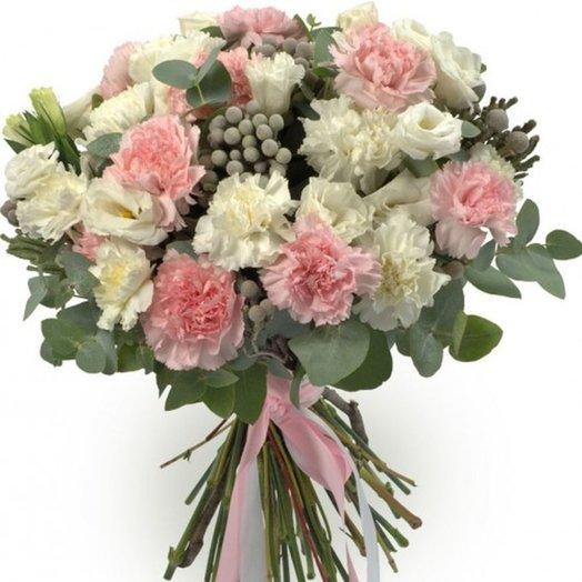 Букет с гвоздикой Мои воспоминания: букеты цветов на заказ Flowwow
