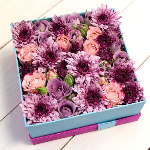 Роза с хризантемой: букеты цветов на заказ Flowwow
