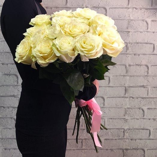 Букет из длиных белых роз: букеты цветов на заказ Flowwow