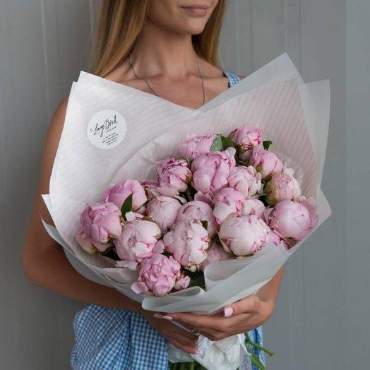 """Букет из пионов """" Зефирка"""": букеты цветов на заказ Flowwow"""