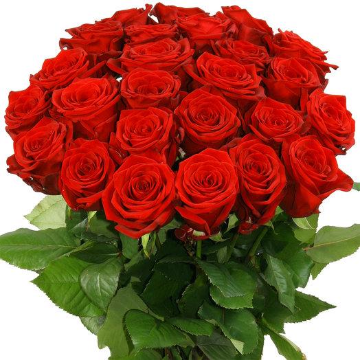"""25 красных роз """"Ред Наоми"""": букеты цветов на заказ Flowwow"""
