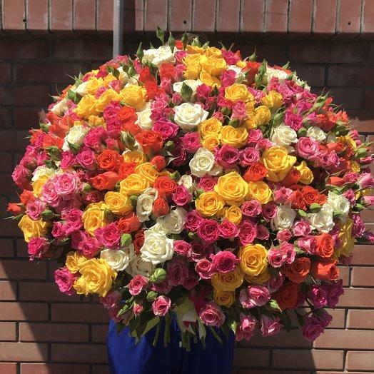 Кустовая роза 51 ветка: букеты цветов на заказ Flowwow