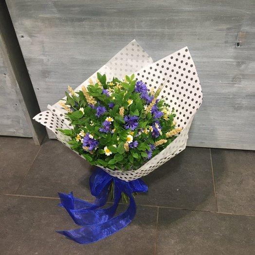 Васильки и ромашки: букеты цветов на заказ Flowwow