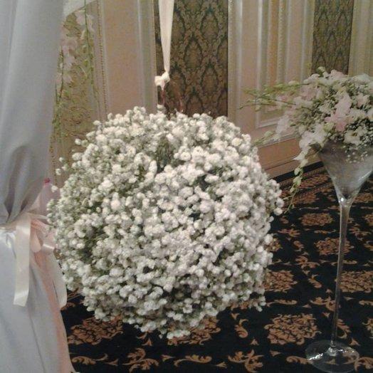 Шар из гипсофилы: букеты цветов на заказ Flowwow