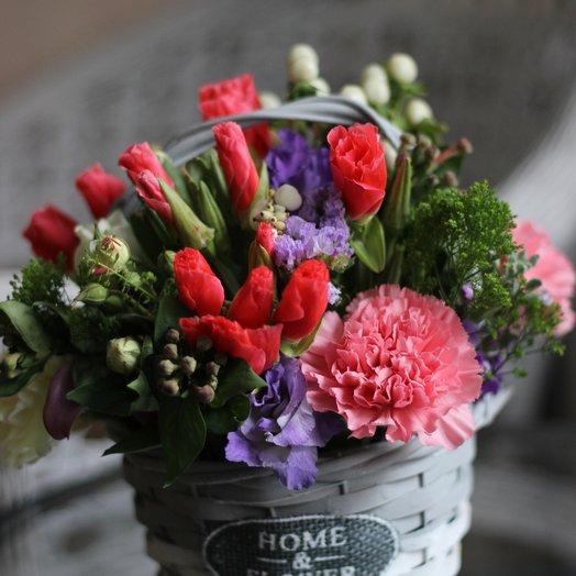 """Корзина """"Пурпур"""": букеты цветов на заказ Flowwow"""