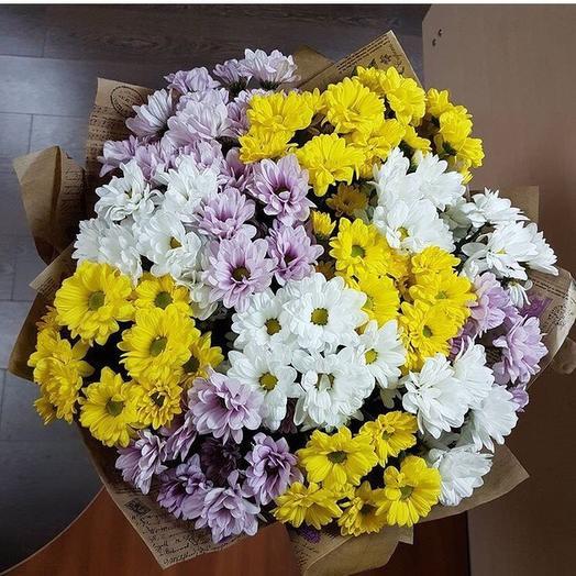 15 Хризантем МИКС: букеты цветов на заказ Flowwow