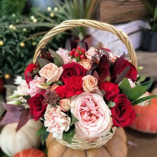 Мини корзинка: букеты цветов на заказ Flowwow