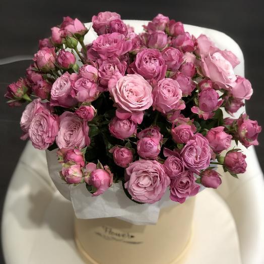 Коробочка с пионовидной: букеты цветов на заказ Flowwow