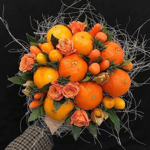 Фруктовый букет «Весна»: букеты цветов на заказ Flowwow