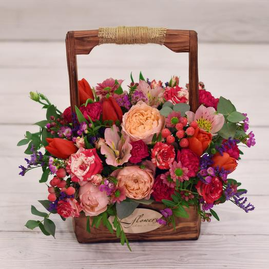 Ящик Неаполь: букеты цветов на заказ Flowwow