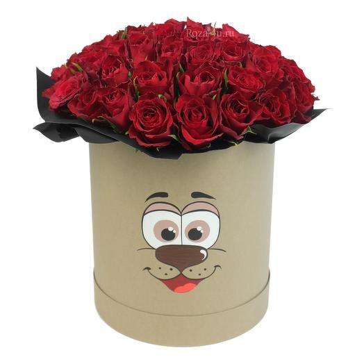 """51 красная роза """"Zoo"""": букеты цветов на заказ Flowwow"""
