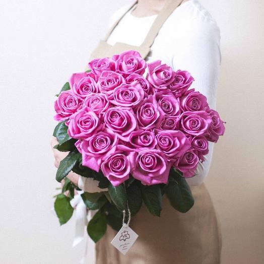 25 роз Аква 60см