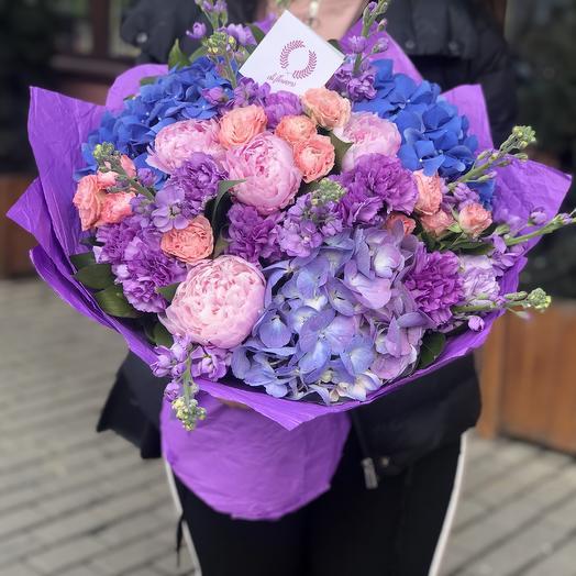 Сиреневый микс: букеты цветов на заказ Flowwow