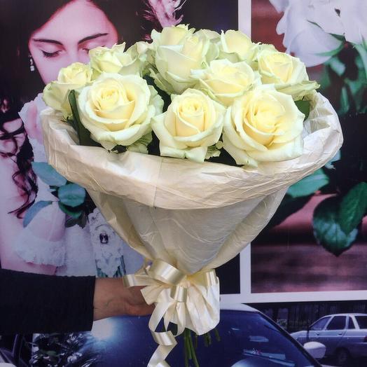 Нежный Букет из 15 роз: букеты цветов на заказ Flowwow