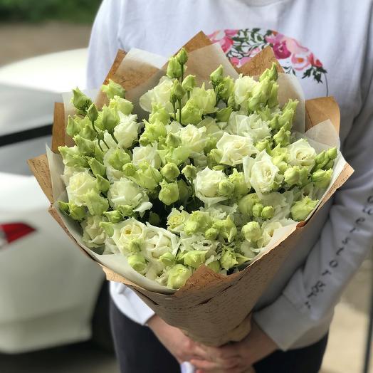 Эустома. Букет из 19 белой эустомы. N479: букеты цветов на заказ Flowwow
