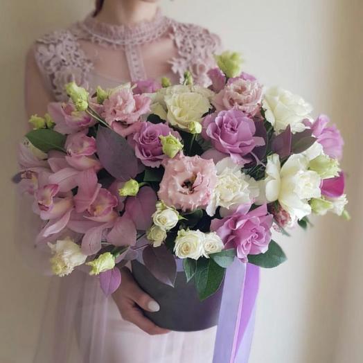 Шляпная коробка 2: букеты цветов на заказ Flowwow