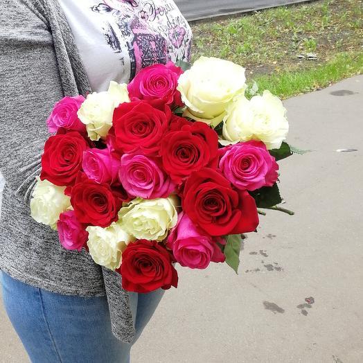 Букет 19 роз микс: букеты цветов на заказ Flowwow