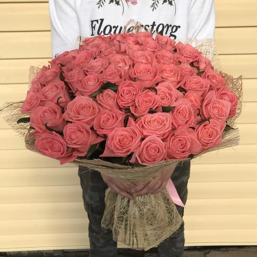 Букет из 51 розы Карина: букеты цветов на заказ Flowwow