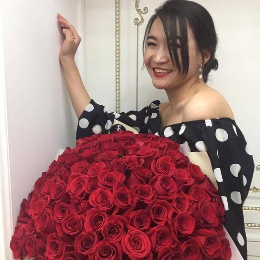 Роза 101шт: букеты цветов на заказ Flowwow