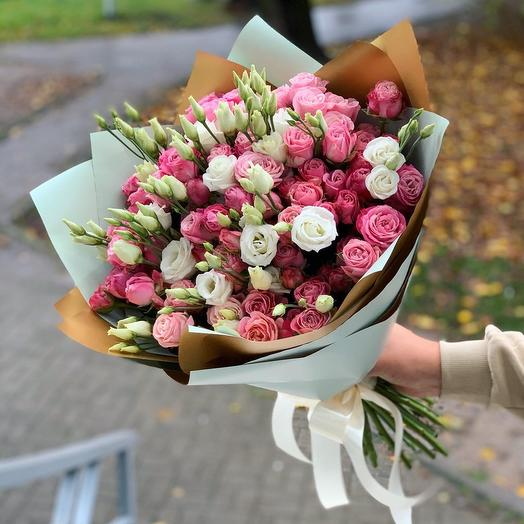 A bouquet of Bush Peony and Eustoma: flowers to order Flowwow
