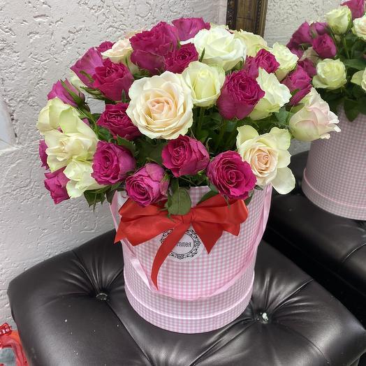 51 роза в коробочка: букеты цветов на заказ Flowwow