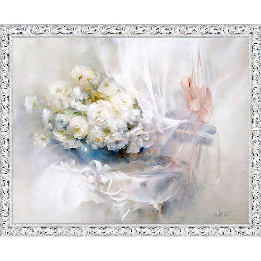 "Картина на холсте, ""Подарок балерине"", 80х60 см., художник - Willem Haenraets. Арт. ХВ-х51: букеты цветов на заказ Flowwow"