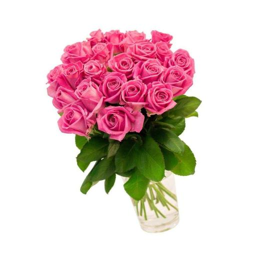 21 розовая роза 50 см