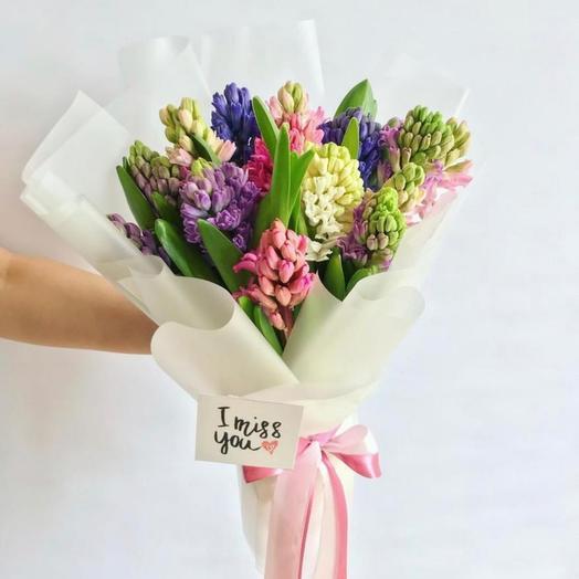 11 гиацинтов: букеты цветов на заказ Flowwow