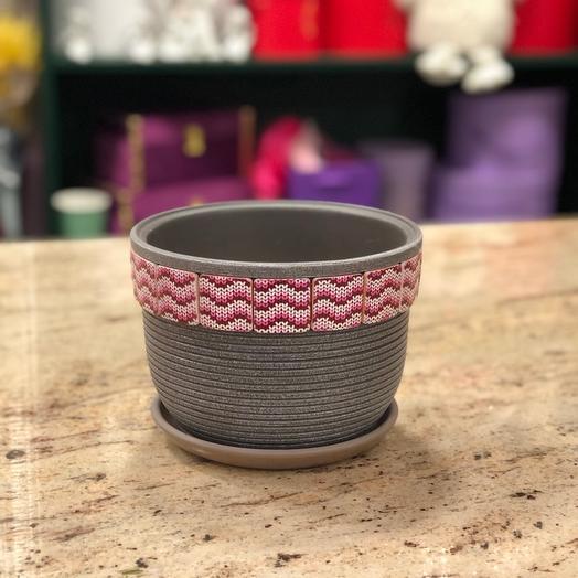 Горшок керамика с поддоном