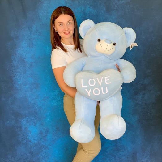 Медведь голубой с сердцем