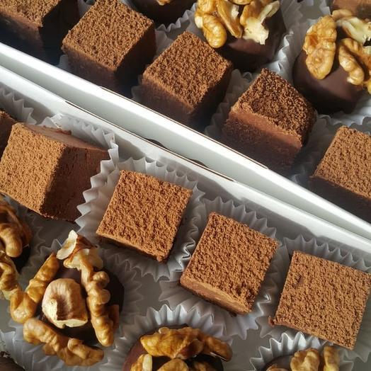 Набор веганских шоколадных трюфелей (15 штук)