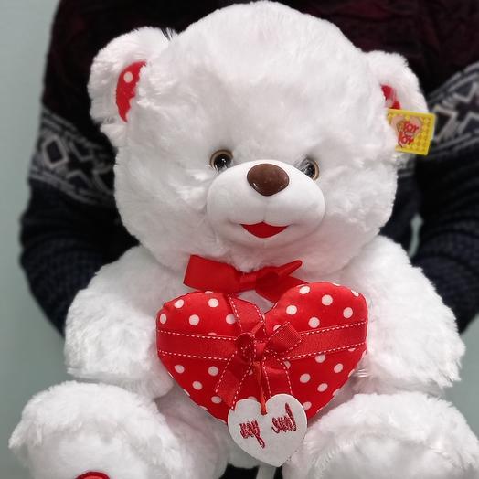 Мишка с сердцем 40 см