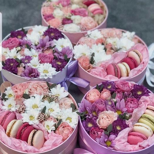 Макарунс с цветами