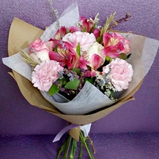 Букет В розовом