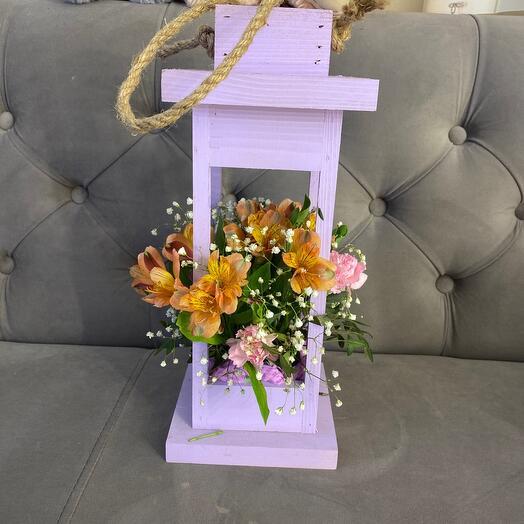 Ящик - Фонарик с цветами
