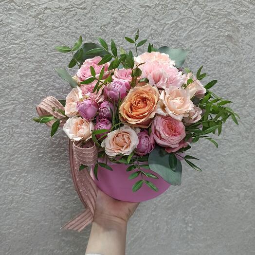 Красивые Цветы в коробке