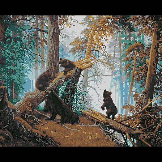 Картина по номерам Шишкин Утро в сосновом бору