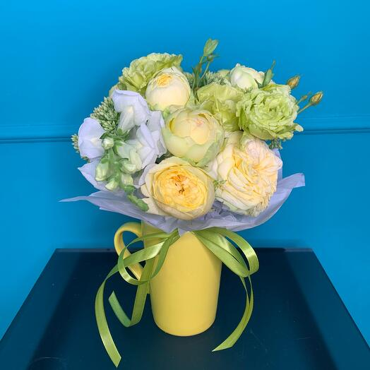 A bouquet in a glass