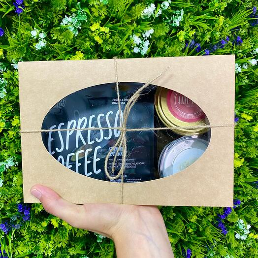 Набор из кофе, джема и ароматизированной свечи